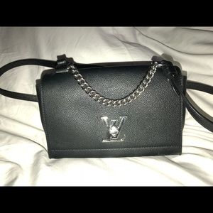 6ab47e7c202e Louis Vuitton Bags - Louis Vuitton Black Leather Lockme II BB Noir Bag